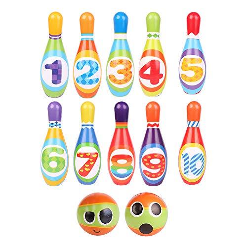 SUNERLORY Kinder Bowling Set, Haus Vorschule Spielen Indoor-Mini-Spielzeug, Kinder PU-Baumwolle Soft Sports Foam lustiges Geschenk