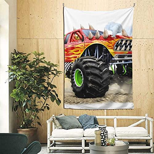 N\A Colgante en la Pared de Dibujos Animados Monster Truck Divertido Tapiz de Pared Arte de Pared para apartamento Dormitorio telón de Fondo decoración del hogar