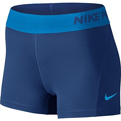 Nike Women's Pro Cool 3-Inch Training Shorts (Deep Royal Blue/Lt Photo Blue/X-Small)