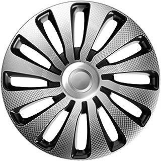 Gorecki J14522 Set J-Tec Wheel Covers Veron 14-inch Silver//Black//Carbon-Look
