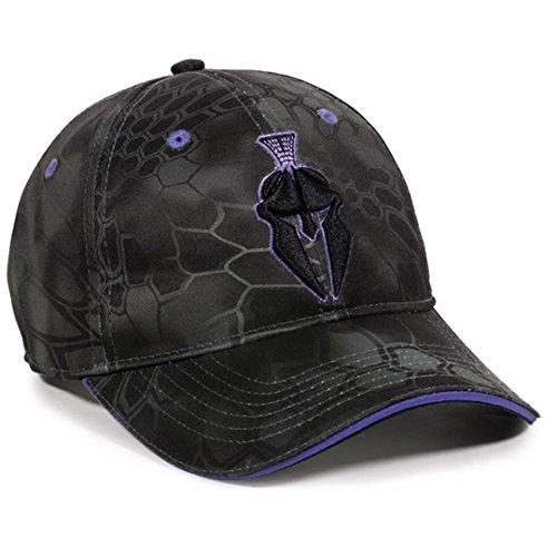Kryptek Ladies Performance Typhon Purple Helmet Logo Camo Cap