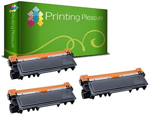 3 Laser Toner Cartridges Compatible with Brother HL-L2300D, L2320D, L2340DW, L2360DN, L2360DW, L2365DW, L2380DW, DCP-L2500D, L2520DW, L2540DN, L2560DW, MFC-L2700DW, L2720DW, L2740DW | TN2320 TN2310 -  Printing Pleasure no Brother original, b_brotherTN2320-3BK
