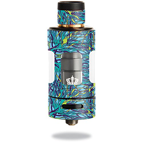 MightySkins Skin Compatible with Uwell Crown 3 Tank – Blue Veins | Protective, Durable, and Unique Vinyl Decal wrap Cover | Easy to Apply, Remove, and Change Styles | Made in The USA