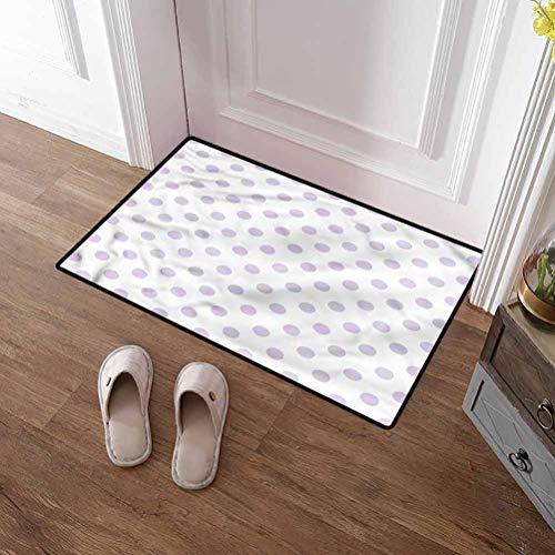 Custom&blanket Door Mat Inside Lavender Patio Rug Polka Dots Classical Tile Doormat Door Mat Rug Outdoor/Indoor 32x48 inches