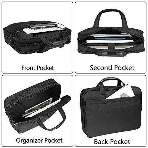 15.6 inch Laptop Bag, Expandable Messenger Shoulder Bag Handle Briefcase for Business Men