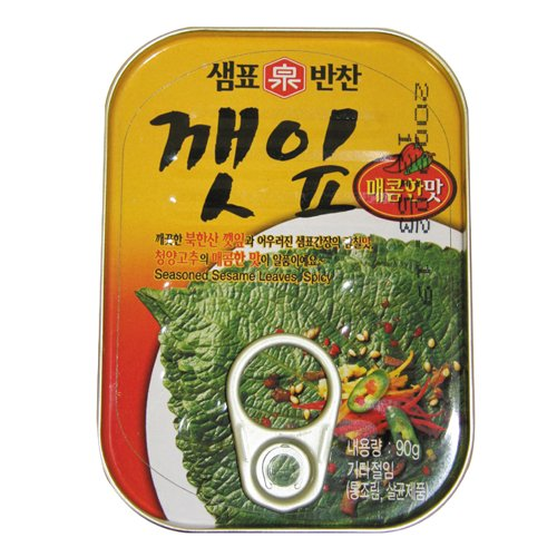 泉標 えごまの葉キムチ缶 (辛口)90g■韓国食品■韓国加工食品■泉標