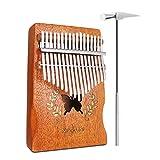 NASUM Kalimba Piano à Pouce 17 Clés Percussion avec Accordeur Autocollant...