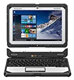 Panasonic Toughbook CF-20, Intel m5-6Y57 @1.10GHz, 10.1'' Multi Touch, 8GB, 256GB SSD, WiFi, Bluetooth, Webcam, Rear Cam, Windows 10 Pro (Tablet + Keyboard) (Renewed)