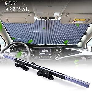 Torchtree - Parasol retráctil para parabrisas de coche para mantener tu vehículo fresco y libre de daños, reflector UV y calor, fácil de usar