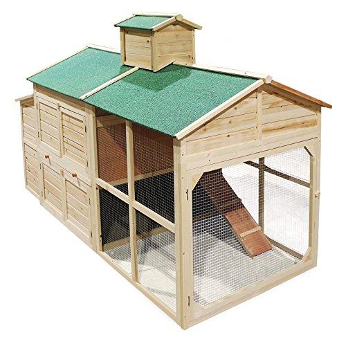 Pollaio in legno stile Cottage Recinto Gabbia per polli galline