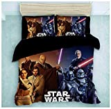 Star Wars - Juego de cama con funda nórdica y funda de almohada, diseño de Star Wars The Force Awakens, 08, 220 x 240 cm