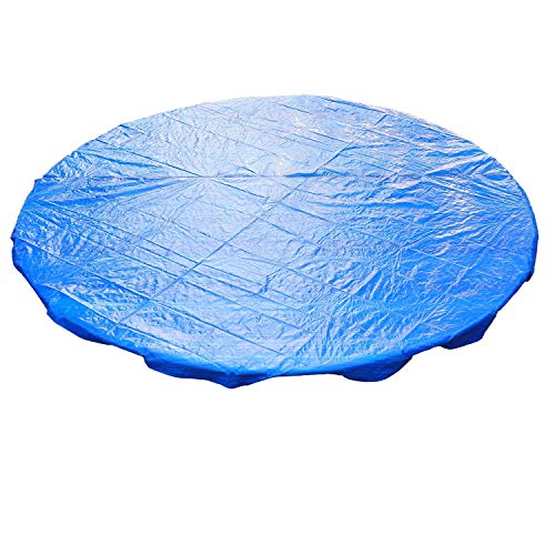 Greenbay Garden Trampoline Rain Cover Weather Protection Cover For 10 FT Foot Round Trampolines (Blue)