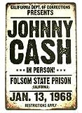 517 Johnny Cash Blechschild Man Cave Vintage Folsom Prison