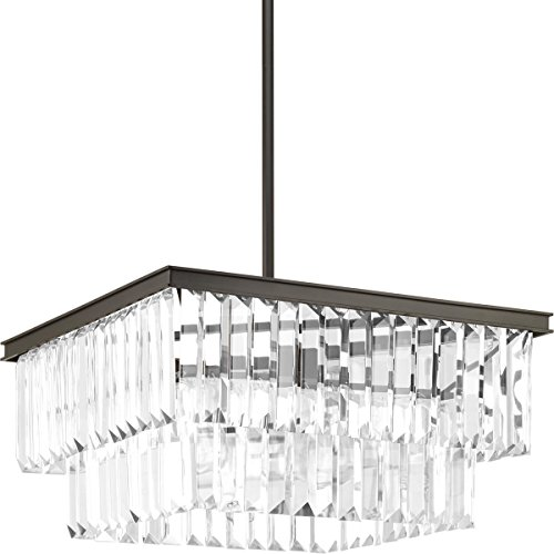 Progress Lighting P500109-020 Glimmer Four-Light Pendant, Brown