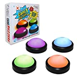 Teacher's Choice 4 Pack Light Up Game Buzzers with Unique Sounds for Each Buzzer |Great for Trivia, Competition, Spelling Bees and More