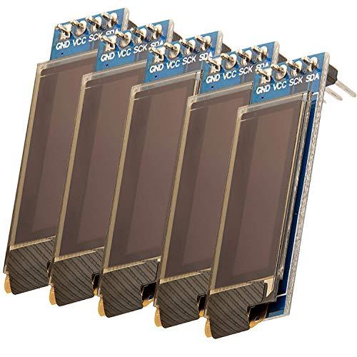 AZDelivery 5 x I2C Display 128 x 32 Pixel 0,91 Zoll Display mit weißen Zeichen kompatibel mit Arduino und Raspberry Pi inklusive E-Book!
