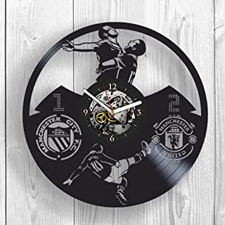 Wayne Rooney, Manchester United, Football, Vinyl Clock, Wall Decor, Red Devils, Room Decor,Modern Art,Home Decor,Man Utd,Gift For Womam,Gift For Man,Hobby,Profession,Wall Art,Vintage Vinyl Record