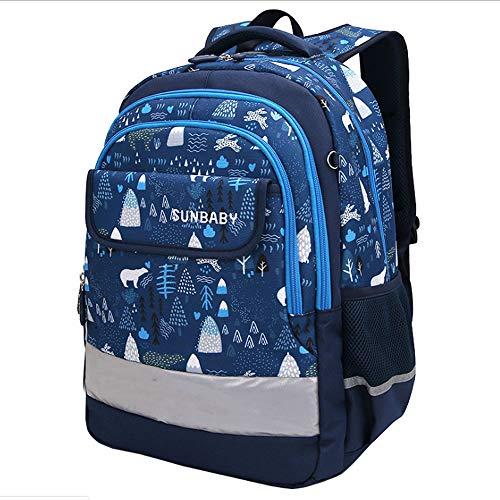 ZHAOYONGBING Children Backpack Fashion Printing Waterproof Breathable Wear-Resisting Shock Absorption Large Capacity Children School Bag Boys Shoulder Bag. Small.