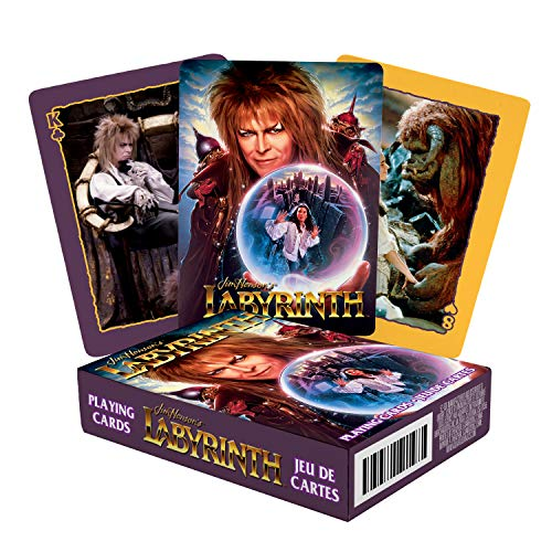 AQUARIUS Labyrinth Playing Cards - Labyrinth Themed Deck of Cards for Your Favorite Card Games - Officially Licensed Labyrinth Merchandise & Collectibles - Poker Size with Linen Finish