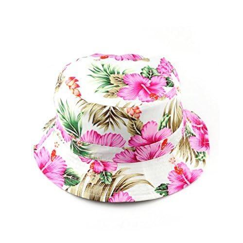NYFASHION101 Fashionable Unisex Satin Lined Printed Pattern Cotton Bucket  Hat ebfa6d0adf7