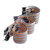 Canzoon Jumper Wire Kit 120Pcs 40Cm Cable Puente Macho A Hembra,Macho A Macho,Hembra A Hembra Cable Dupont Largo Para Maqueta, Para Prueba De Circuito Rápido