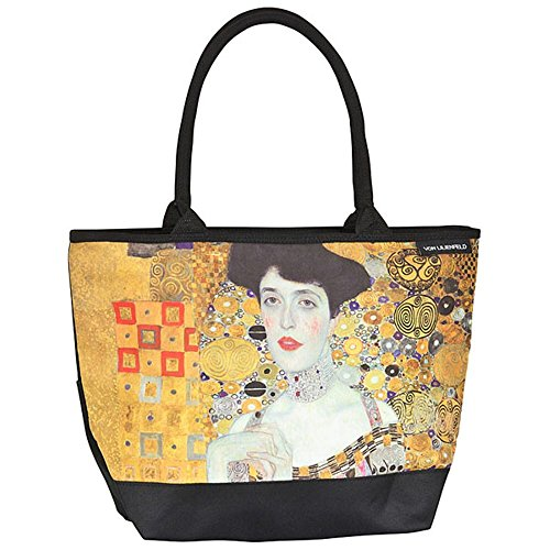 VON LILIENFELD® Bolsa Compra Shopper Grande de Playa Bandolera Mujer Arte Gustav Klimt Adele
