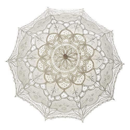 TopTie Paraguas de encaje Parasol Boda Nupcial fotografía para la Decoración de Disfraces de Halloween Accesorios