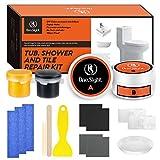One Sight Kit de reparación para azulejos de bañera y lavabos de 7 oz, kit de reparador de ducha...