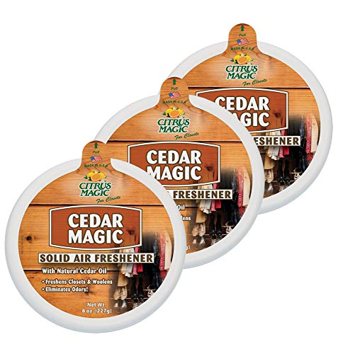 Citrus Magic Solid Air Freshener Cedar, Pack of 3, 8-Ounces Each