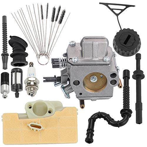 Hayskill MS390 MS290 MS310 Carburetor with Air Filter Fuel Line Repower Kit for Stihl MS290 MS310 MS390 029 039 Chainsaw Carb Replace 1128 120 0625