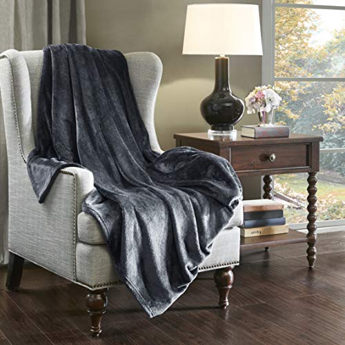 SCM Kuscheldecke XXL Charcoal Wohndecke 280GSM Tagesdecke Decke Flauschig Weich und Angenehm Warm Überwurf Sofadecke mit Premium Cashmere Feeling, 200x240cm
