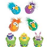 Easter Egg Decorating Crafts Kits - Including Crazy Bird Craft Kit (make 12) and Easter Animal Craft Kit (make 12)