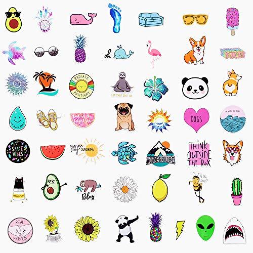 [50 PACKS]Big Stickers, elloLife Waterproof Aesthetic Trendy Cute Stickers Sheets for Kids Children Teens Girls for Water Bottles Macbook Laptop Phone Motorcycle Bicycle Luggage Skateboard etc.