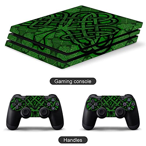 Lucky Clover Irish Celtic PS4 controller and console skin sticker protective cover wireless/wired gamepad controller Full body skin Body Vinyl Sticker Decal Cover Skin