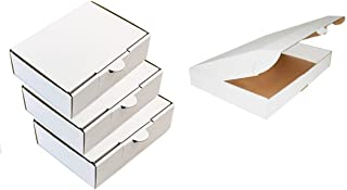 100 Cajas cartón kraft blancas 35x25x5 cm para tus envíos
