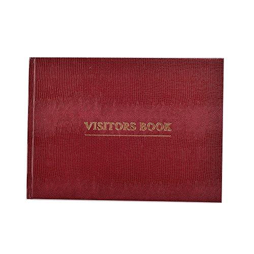 Arpan Deluxe - Libro de visitas para negocios, hoteles, casas de huéspedes, recepción, color burdeos