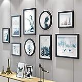 Marcos De Fotos Múltiples imágenes de fotos Marcos de pared Conjunto sólido marco de madera Colección de fotografías, imágenes múltiples de fotos Marcos de pared Set 9 piezas Juego, Galería de fotos p