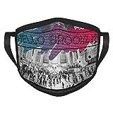Ciao Brooklyn Team slogan Grand Central Adulti bordura maschere Fad Flower Print Maschere per il viso lavabili coperture facciali portatili Protezione viso bordo elastico 1 confezione