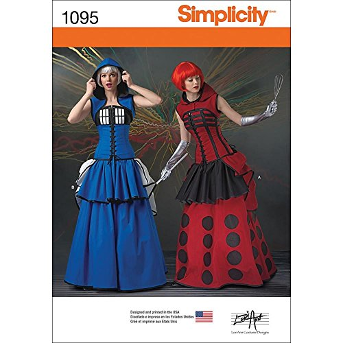 Simplicity 1095 Time Traveler Cosplay and Halloween Costume Sewing Pattern for Women, Sizes 14-22