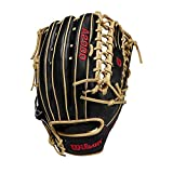 Wilson A2000 12.75-Inch SuperSkin Baseball Glove, Black/Blonde, Left (Right Hand Throw)