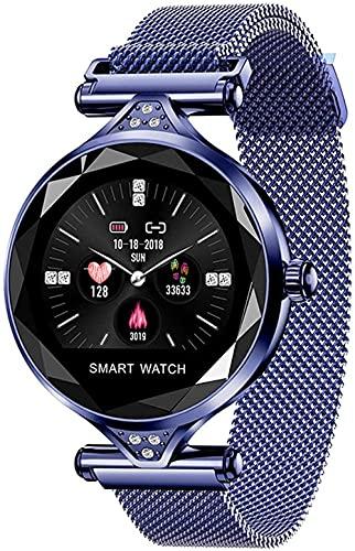Reloj Inteligente 1.04 Pulgadas Pantalla Fitness Tracker Deportes Podómetro Pulsera Hembra Ciclo Menstrual Recordatorio Mensaje Push Recordatorio Inteligente IP67 Impermeable Azul