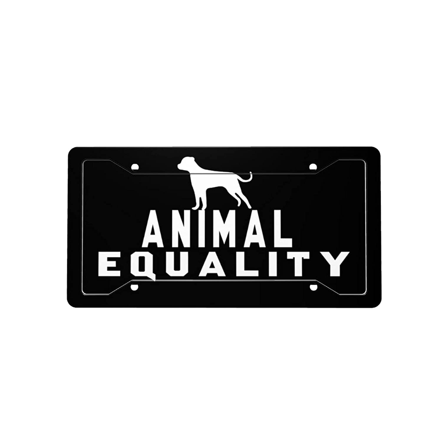 Animal Equality License Plate Decorative Max Nippon regular agency 51% OFF Front Licen Car Vanity