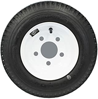 LoadStar 5-hole 8 x 3.75 White Trailer Wheel and Tire 4.80-8 4ply
