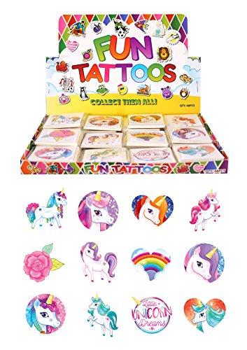 Henbrandt Temporäre Tattoo's – Einhorn – 12 x 6 Packungen = 72 Tattoos geliefert