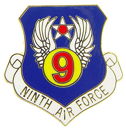 U.S. AIR FORCE, 9th Air Force SHIELD - Original Artwork, Expertly Designed PIN - 1