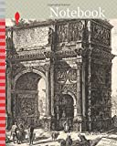 Notebook: View of the Arch of Constantine, from Views of Rome, 1771, published 1800–07, Giovanni Battista Piranesi (Italian, 1720-1778), published by ... born 1758/9), Italy, Etching on heavy ivory