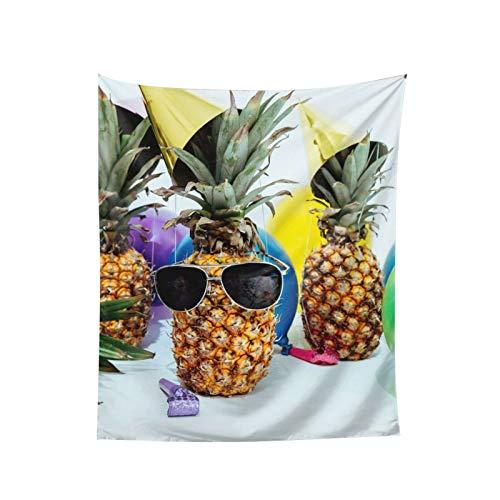 Tapiz de globo de vidrio de piña para colgar en la pared, para ventana, decoración del hogar, cortina para dormitorio, collage para dormitorio, oficina, 152 x 152 cm