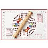 Aitsite Rodillo Ajustable,4 Medidas Multicolor,Anilla con Escala y Grosor Regulable,Tapete de Silicona Para Repostería,Muy...