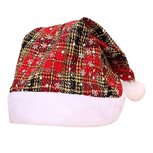 Yliquor Girls Boys Knitted Beanie Hat Children's Xmas Party Decoration Beanie Cap Kids Santa Hat Christmas Hat