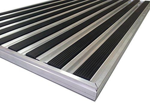 Aluminio Profesional Felpudo para sistema HD40, tamaño 92x 56cm, para empotrada Alfombrilla de instalación en así, incluyendo matwell Marco., Negro